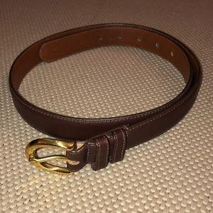 Coach Mahogany Leather Belt